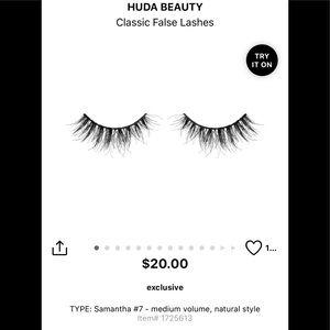 Huda Beauty Classic lashes in #7 Samantha! NIB!